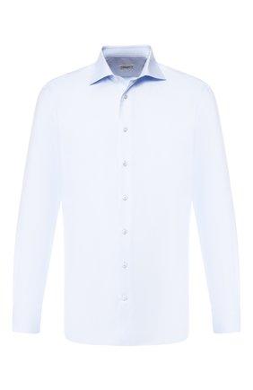 Мужская хлопковая сорочка с воротником кент ZILLI голубого цвета, арт. MFR-MERCU-01044/RZ01 | Фото 1