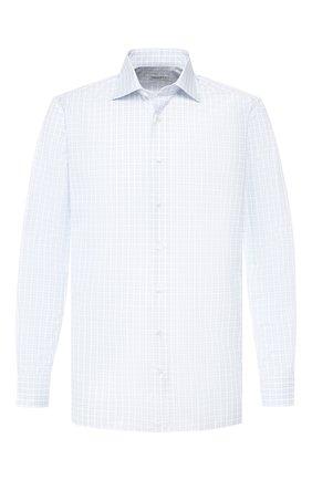 Мужская хлопковая сорочка с воротником кент ZILLI голубого цвета, арт. MFR-MERCU-04202/RZ01 | Фото 1