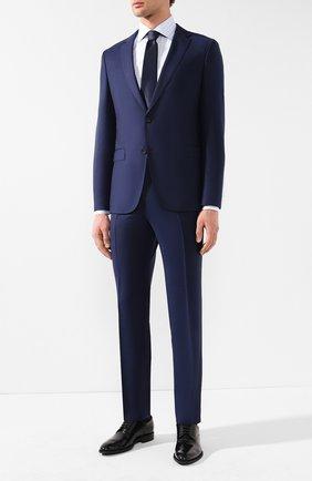 Мужская хлопковая сорочка с воротником кент ZILLI голубого цвета, арт. MFR-MERCU-04202/RZ01 | Фото 2