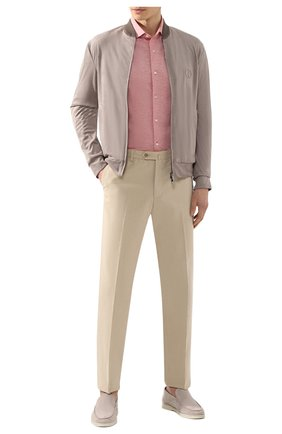Мужская хлопковая рубашка LORO PIANA красного цвета, арт. FAI5693 | Фото 2