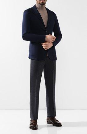 Мужские кожаные монки SANTONI темно-коричневого цвета, арт. MCC016036MC3HVVDT50   Фото 2