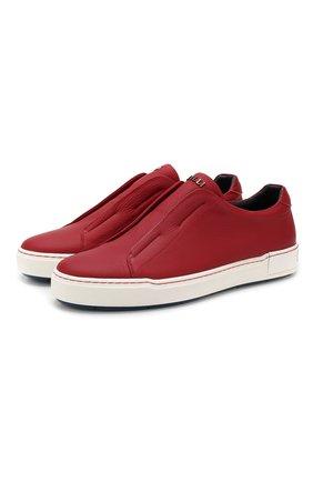 Мужские кожаные кеды ZILLI красного цвета, арт. MDR-T044/002 | Фото 1