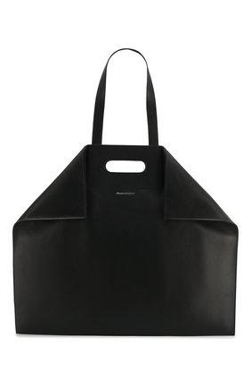 Кожаная сумка-шоппер de Manta   Фото №1