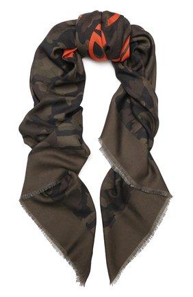Мужской платок из смеси кашемира и шелка DOLCE & GABBANA зеленого цвета, арт. GQ239E/G2JAH | Фото 1