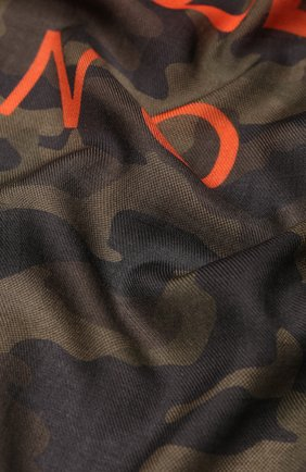 Мужской платок из смеси кашемира и шелка DOLCE & GABBANA зеленого цвета, арт. GQ239E/G2JAH | Фото 2