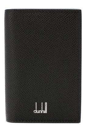 Мужской кожаный футляр для визитных карточек DUNHILL черного цвета, арт. DU18F2470CA   Фото 1