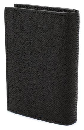 Мужской кожаный футляр для визитных карточек DUNHILL черного цвета, арт. DU18F2470CA   Фото 2