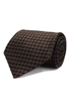 Мужской шелковый галстук TOM FORD коричневого цвета, арт. 5TF45/XTF | Фото 1