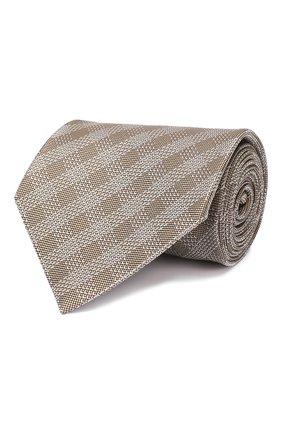 Мужской шелковый галстук TOM FORD бронзового цвета, арт. 5TF48/XTF | Фото 1