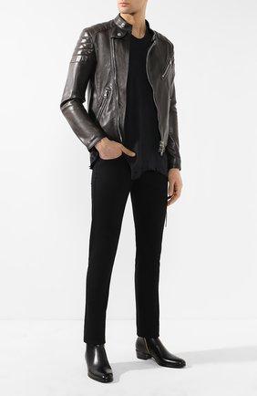 Мужские джинсы прямого кроя TOM FORD черного цвета, арт. BSJ05/TFD001 | Фото 2