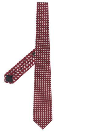Мужской шелковый галстук ERMENEGILDO ZEGNA бордового цвета, арт. Z5D07/1XW | Фото 2