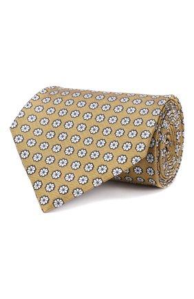 Мужской шелковый галстук ERMENEGILDO ZEGNA желтого цвета, арт. Z5D07/1XW | Фото 1