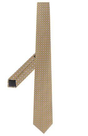 Мужской шелковый галстук ERMENEGILDO ZEGNA желтого цвета, арт. Z5D07/1XW | Фото 2