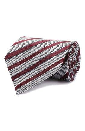 Мужской шелковый галстук ERMENEGILDO ZEGNA бордового цвета, арт. Z5D10/1XW | Фото 1