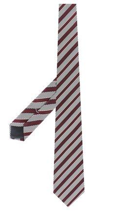 Мужской шелковый галстук ERMENEGILDO ZEGNA бордового цвета, арт. Z5D10/1XW | Фото 2