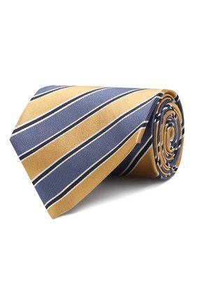 Мужской шелковый галстук ERMENEGILDO ZEGNA желтого цвета, арт. Z5D11/1XW | Фото 1