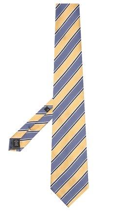 Мужской шелковый галстук ERMENEGILDO ZEGNA желтого цвета, арт. Z5D11/1XW | Фото 2