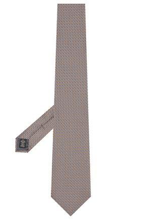Мужской шелковый галстук ERMENEGILDO ZEGNA оранжевого цвета, арт. Z5E24/1XW | Фото 2