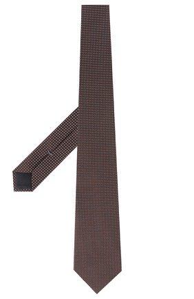 Мужской шелковый галстук ERMENEGILDO ZEGNA коричневого цвета, арт. Z5E25/1XW | Фото 2