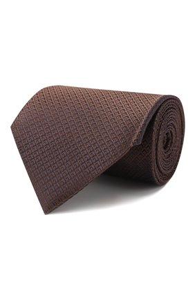 Мужской шелковый галстук ERMENEGILDO ZEGNA коричневого цвета, арт. Z5E25/1XW | Фото 1