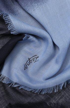 Мужской шерстяной шарф ERMENEGILDO ZEGNA голубого цвета, арт. Z5L55/2D8 | Фото 2