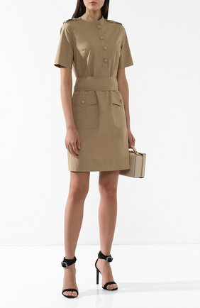 Женское хлопковое платье ESCADA бежевого цвета, арт. 5030347   Фото 2