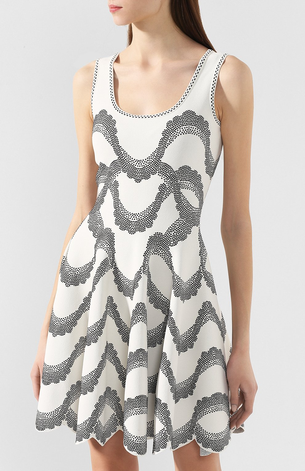 Платье из вискозы и шелка | Фото №3