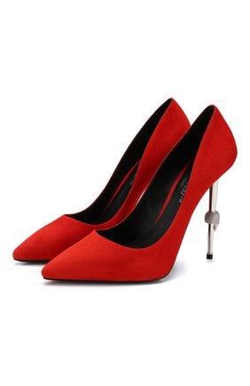 Замшевые туфли Decollete | Фото №1