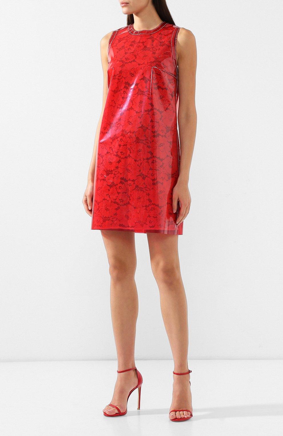 57b68d867d2 Женское красное кружевное мини-платье NO. 21 — купить за 47400 руб ...