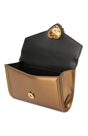 Поясная сумка Devotion Dolce & Gabbana золотая | Фото №4