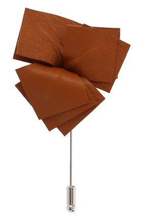 Мужская брошь FLOWER ME коричневого цвета, арт. NONME-LT012010S | Фото 1