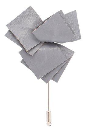 Мужская брошь FLOWER ME серого цвета, арт. NONME-LT017010S | Фото 1