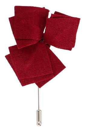 Мужская брошь FLOWER ME бордового цвета, арт. NONME-CM001010S | Фото 1