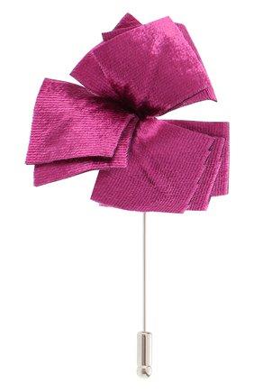 Мужская брошь FLOWER ME розового цвета, арт. NONME-VT016010S | Фото 1