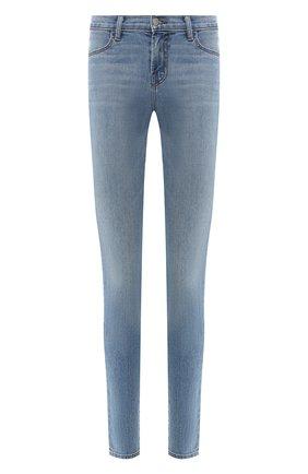 Женские однотонные джинсы-скинни J BRAND синего цвета, арт. JB000326/D | Фото 1