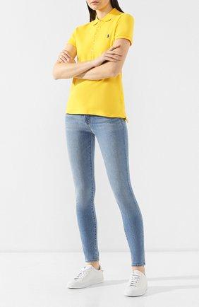 Женские однотонные джинсы-скинни J BRAND синего цвета, арт. JB000326/D | Фото 2