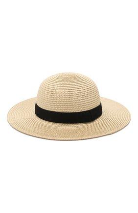 Соломенная шляпа Karl Lagerfeld Kids бежевого цвета | Фото №2