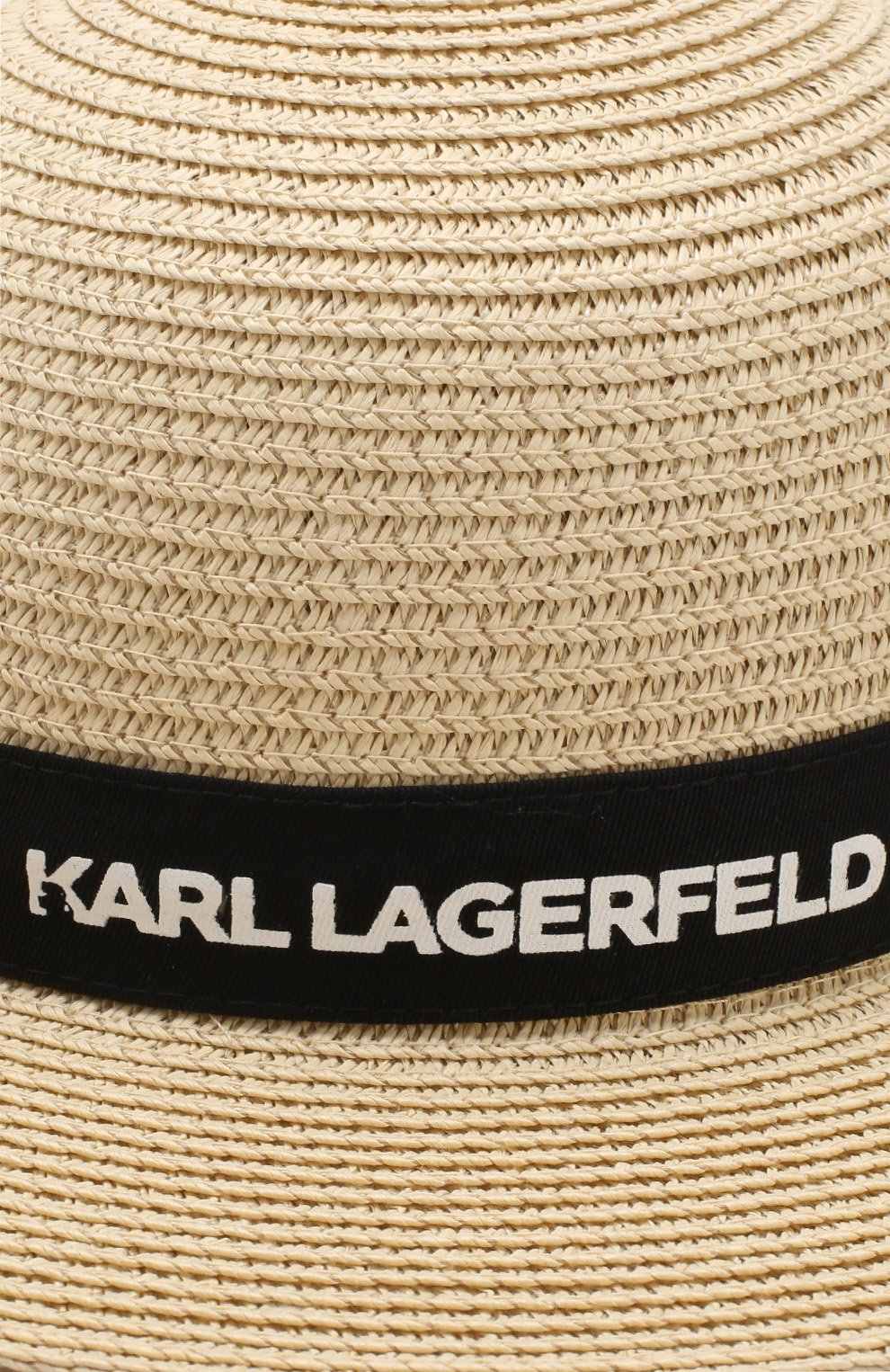 Соломенная шляпа Karl Lagerfeld Kids бежевого цвета | Фото №3