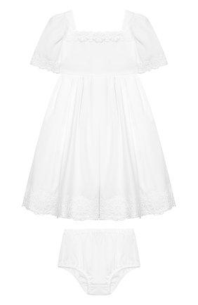 Женский комплект из хлопкового платья и шорт DOLCE & GABBANA белого цвета, арт. L21DI5/FU5GK | Фото 1
