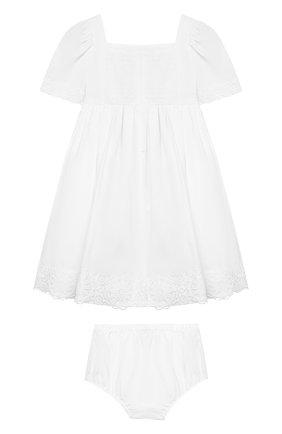 Женский комплект из хлопкового платья и шорт DOLCE & GABBANA белого цвета, арт. L21DI5/FU5GK | Фото 2