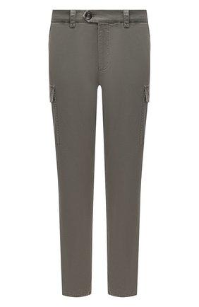 Мужские хлопковые брюки-карго BRUNELLO CUCINELLI хаки цвета, арт. M289LE1890 | Фото 1