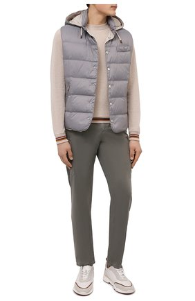 Мужские хлопковые брюки-карго BRUNELLO CUCINELLI хаки цвета, арт. M289LE1890 | Фото 2