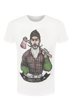 Мужская хлопковая футболка BISIBIGLIO белого цвета, арт. LUMBERJACK   Фото 1