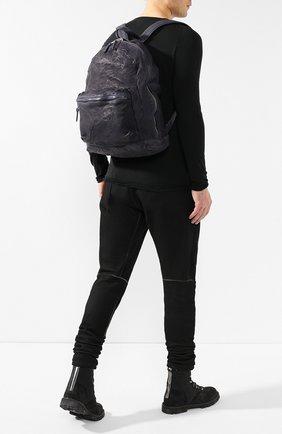 Мужской кожаный рюкзак GIORGIO BRATO темно-синего цвета, арт. BS19S2401V   Фото 2 (Материал: Натуральная кожа; Статус проверки: Проверена категория)
