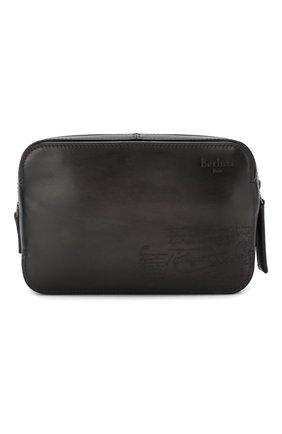 Мужской кожаный несессер BERLUTI черного цвета, арт. M173369 | Фото 1
