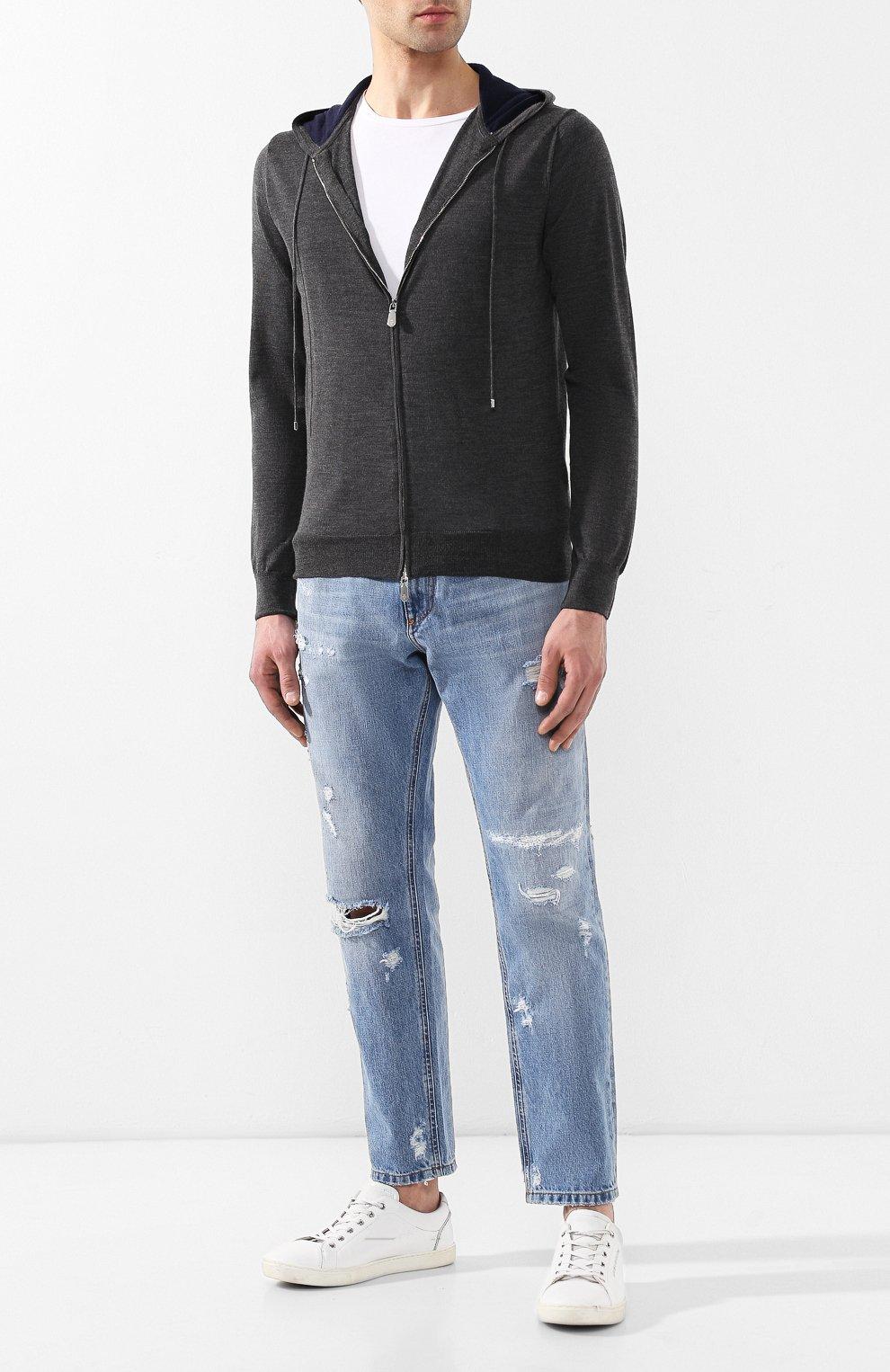 Мужской кардиган из смеси шерсти и шелка ELEVENTY PLATINUM серого цвета, арт. 979MA0256 MAG24003 | Фото 2