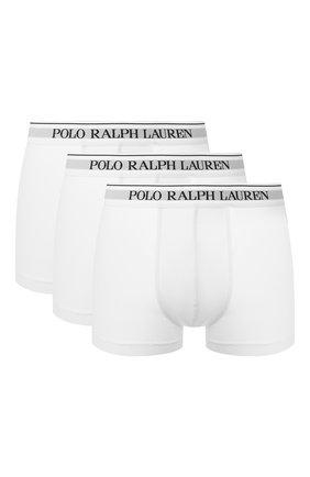 Мужские комплект из трех хлопковых боксеров POLO RALPH LAUREN белого цвета, арт. 714513424/001 | Фото 1