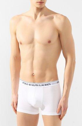 Мужские комплект из трех хлопковых боксеров POLO RALPH LAUREN белого цвета, арт. 714513424/001 | Фото 2