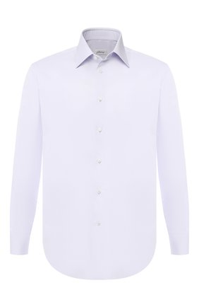 Мужская хлопковая сорочка с воротником кент BRIONI сиреневого цвета, арт. RCLU2X/PZ003 | Фото 1
