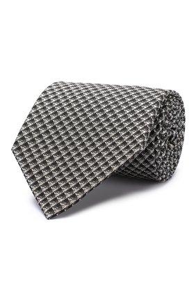 Мужской шелковый галстук TOM FORD черно-белого цвета, арт. 5TF06/XTF | Фото 1